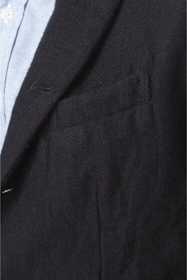 Shetland Linen Tweed 5-button Jacket 11010312000230: Navy