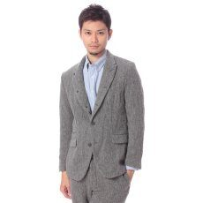 Shetland Linen Tweed 5-button Jacket 11010312000230: Grey