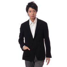 Feathery Wool 3-button Jacket 11010320200030: Black