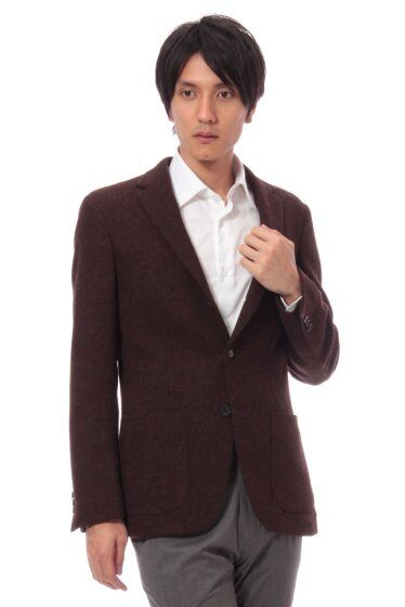 Harris Tweed 3-button Jacket 11010320240030: Brown
