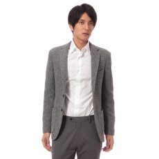Harris Tweed 3-button Jacket 11010320240030: Grey