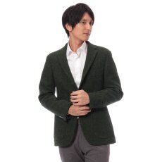 Harris Tweed 3-button Jacket 11010320240030: Green