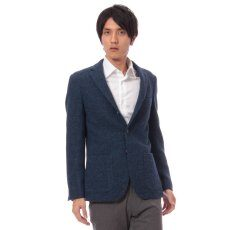 Harris Tweed 3-button Jacket 11010320240030: Blue