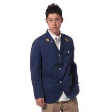 French Work Jacket 11010720302030: Navy