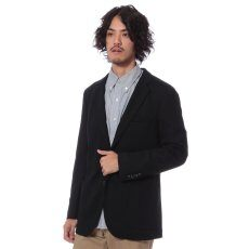 Wool Jersey 2-button Jacket 11010720770130: Navy
