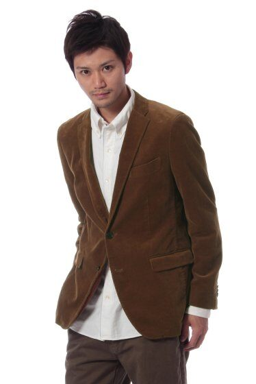Washed Corduroy 2-button Jacket 11010720800130: Camel