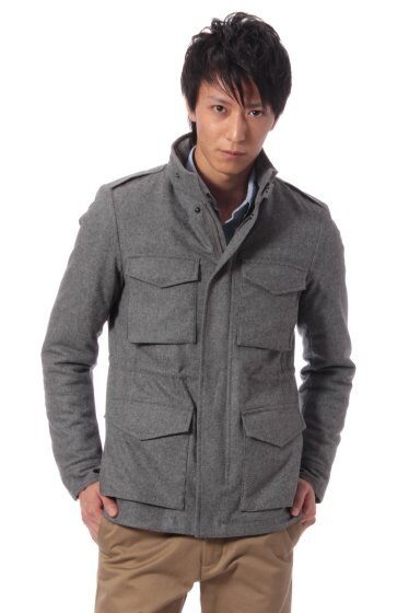 Wool M-65 Jacket 11011300300330: Grey