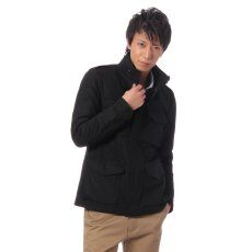 Wool M-65 Jacket 11011300300330: Black