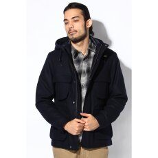 Wool Short Lined Jacket 11011300301030: Navy