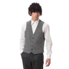 Harris Tweed Vest 11011320240030: Grey