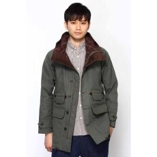 Wax Paraffined Cotton Mountain Parka 11011470217030: Green