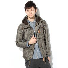 Taffeta Fur Hooded Blouson 11011600822130: Khaki