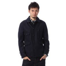 Melton Work Jacket 11011720201130: Navy