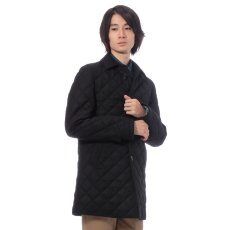 Edifice Saxony Wool Quilted Coat 11020300200030: Black
