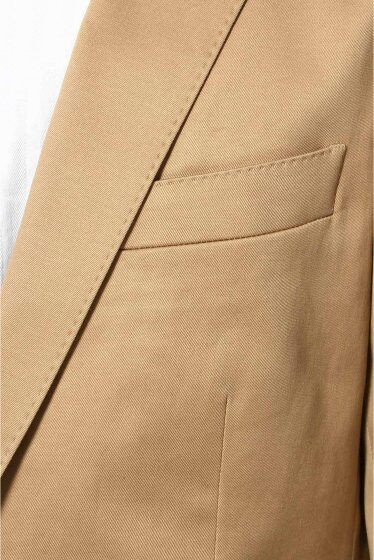 Stretch Cotton Twill Jacket 12010720802510: Beige