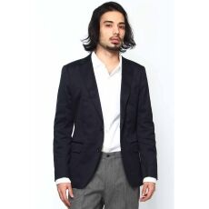 Stretch Cotton Twill Jacket 12010720802510: Navy