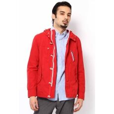 High-Count Cotton Marine Parka 12011312000310: Red
