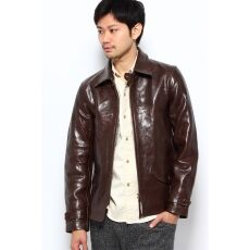 J.S.Homestead Goatskin 40s Midwest Coat 12011470101030: Brown