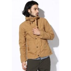 High Micro Brushed Cotton Hooded Blouson 12011600804010: Gold