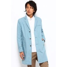 Typewriter Cloth French Work Tailored Coat 12020300610010: Saxe