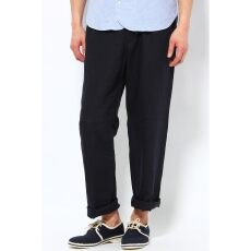 French Linen Draw String Pant 12030312000010: Navy