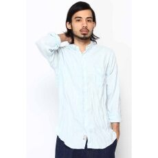 Irish Linen Buttondown Shirt 12050470106010: Blue
