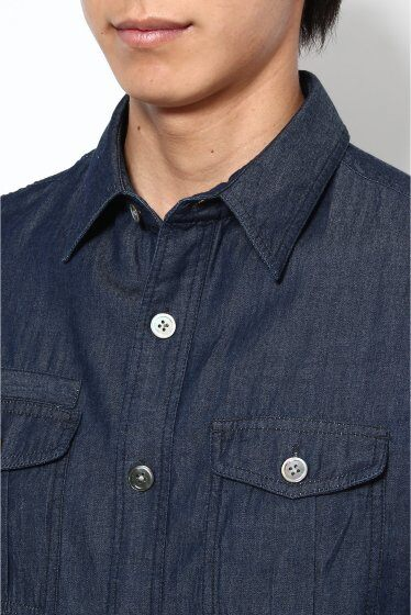 7/10 Sleeve Light Denim Boy Scouts Shirt 12051300000110: Navy