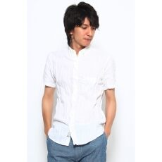 Short Sleeve Irish Linen Buttondown Shirt 12051470108010: White
