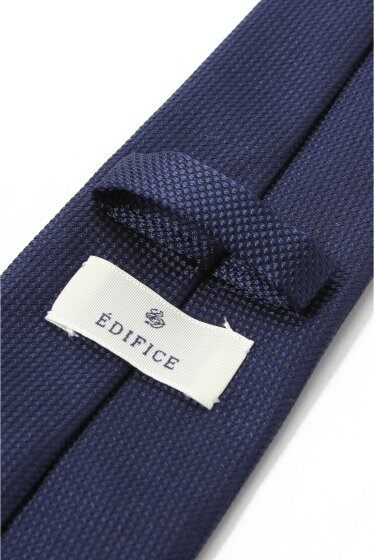 Basket Weave Solid Tie 12097320101410: Navy A