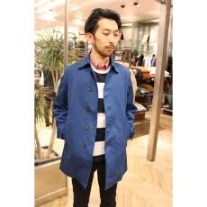 Garment Dyed Cotton Twill Coat 13020300100010: Blue