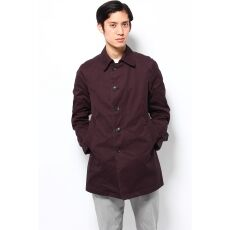 Garment Dyed Cotton Twill Coat 13020300100010: Bordeaux