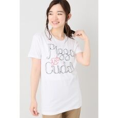 Happiness Pizz Cuddle Tシャツ
